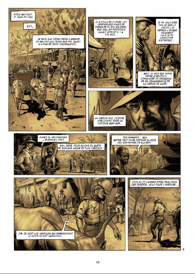 preview bande-dessinée, ALLAN QUATERMAIN ET LES MINES DU ROI SALOMON T1 - Dobbs et Dim D. - Preview