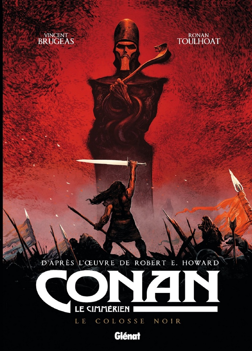 preview bande-dessinée, CONAN LE CIMMERIEN - Le Colosse noir - V. BRUGEAS /R.TOULHOAT - Glénat - Preview