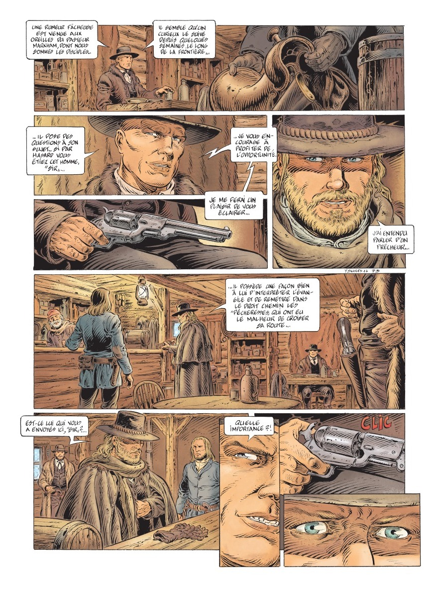 preview bande-dessinée, LONESOME T1 - Y. Swolfs - Le lombard - preview