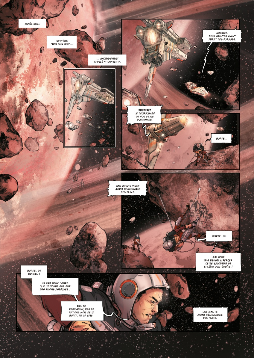 preview bande-dessinée, RED SUN T1 - S. Louis/A. DE BERNARDIS - Kamiti - Preview