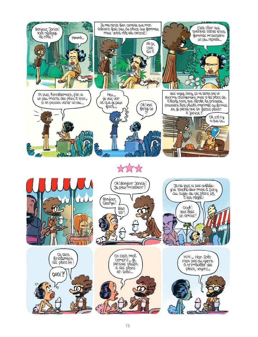 preview bande-dessinée, STARFIXION - Obion/J.Bernstein - Fluide Glacial - Preview