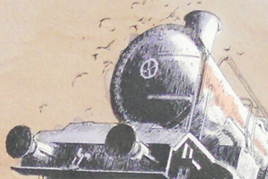LE CIMETIERE DES LOCOMOTIVES. Evolution du coloris de limage de Schuiten